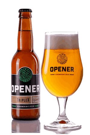 Triplex tripel speciaal bier Opener